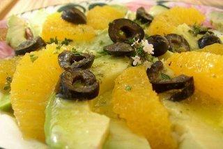 Receta de ensalada de aguacate y naranja