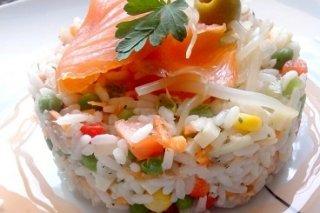 Receta de ensalada de arroz al estilo hanna