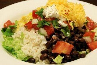 Receta de ensalada de arroz con frijoles
