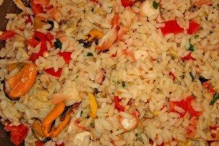 Receta de ensalada de arroz con mejillones