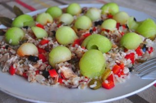 Receta de ensalada de arroz con melón