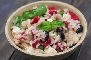 Receta de ensalada de arroz con queso feta