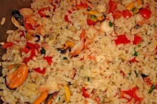 Receta de ensalada de arroz marinero