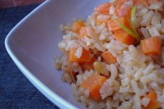Receta de ensalada de arroz, zanahoria, judías verdes y cebolleta