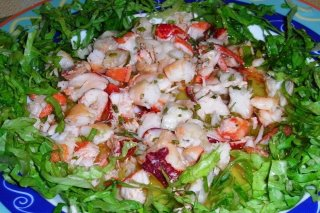 Receta de ensalada de bogavante