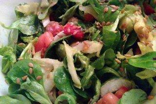 Receta de ensalada de canónigos y langostinos