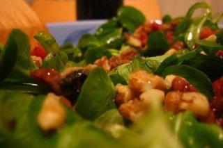 Receta de ensalada de canónigos y nueces