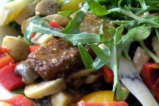 Receta de ensalada de carne con queso