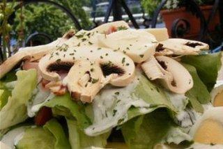 Receta de ensalada de champiñones