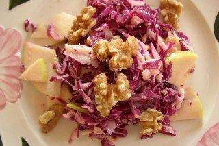 Receta de ensalada de col con manzana