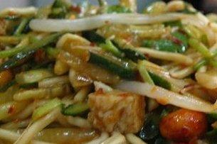 Receta de ensalada de espaguetis con pollo
