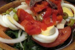 Receta de ensalada de espinaca con pimiento