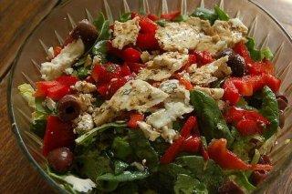 Receta de ensalada de espinaca con queso