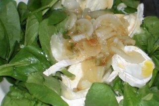 Receta de ensalada de espinacas con queso de cabra
