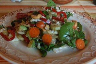 Receta de ensalada de espinacas con zanahoria