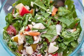 Receta de ensalada de espinacas y arroz