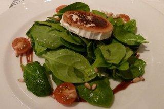 Receta de ensalada de espinacas y champiñones