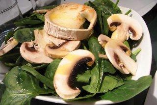Receta de ensalada de espinacas y queso