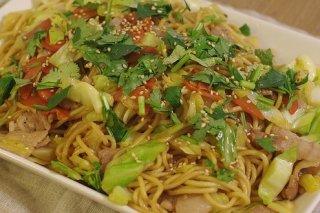 Receta de ensalada de fideos chinos