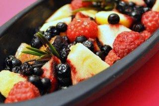 Receta de ensalada de frutas del bosque
