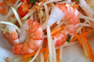 Receta de ensalada de gambas con zanahoria