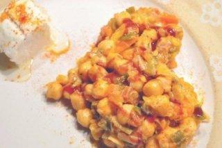 Receta de ensalada de garbanzos con verduras