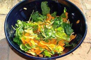 Receta de ensalada de hinojo y zanahoria