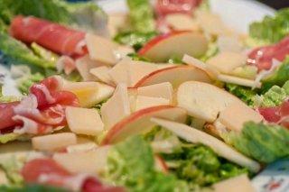 Receta de ensalada de jamón y manzana