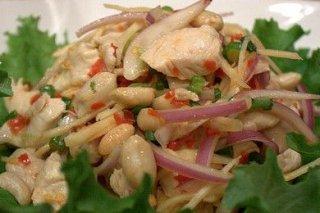 Receta de ensalada de judías con pollo