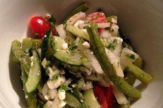 Receta de ensalada de judías verdes con feta