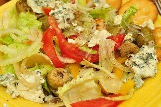 Receta de ensalada de lechuga con queso