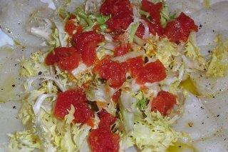 Receta de ensalada de lechuga y bacalao