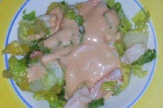 Receta de ensalada de lechuga y gambas