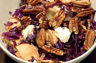 Receta de ensalada de lombarda con nueces