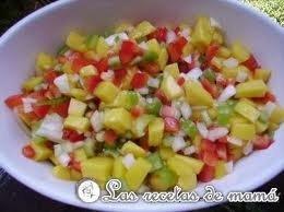 Receta de ensalada de mango y piña