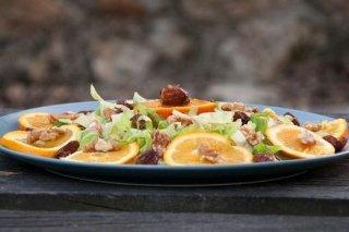 Receta de ensalada de naranja y nueces