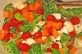 Receta de ensalada de papaya y queso feta
