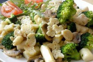 Receta de ensalada de pasta con champiñones