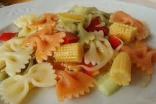 Receta de ensalada de pasta estilo oriental