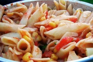 Receta de ensalada de pasta con atún y huevo