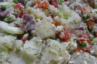 Receta de ensalada de patata con queso