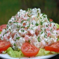Receta de ensalada de patatas con langostinos
