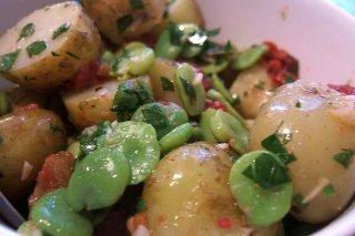 Receta de ensalada de patatas con vinagreta