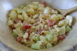 Receta de ensalada de patatas con mayonesa