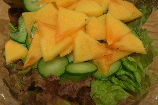 Receta de ensalada de pepino y piña