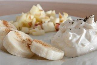 Receta de ensalada de plátanos al yogur