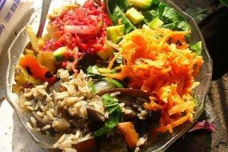 Receta de ensalada de pollo con arroz