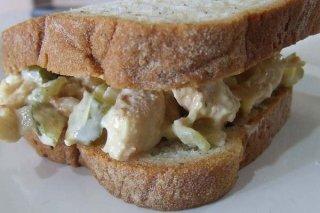 Receta de ensalada de pollo para sandwich