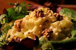 Receta de ensalada de pollo waldorf