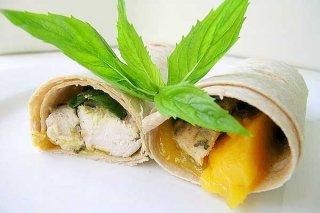 Receta de ensalada de pollo y mango